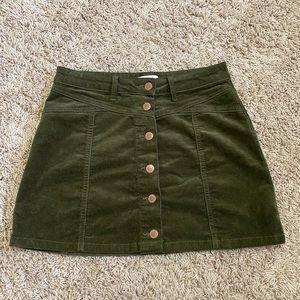 Forever 21 Button Corduroy Skirt